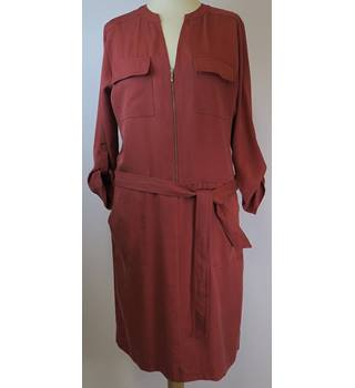BNWT - Next - Size: 10 - Rust red - Knee length dress