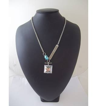 Catwalk - Size: Medium - Silver coloured - Necklace - With Pendant