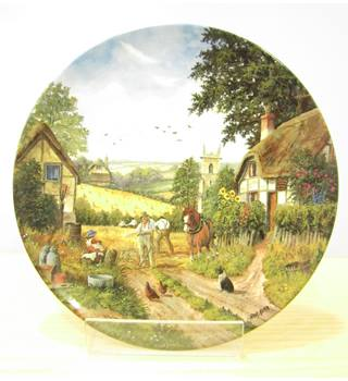 "Royal Doulton plate - ""Cutting The Corn"""