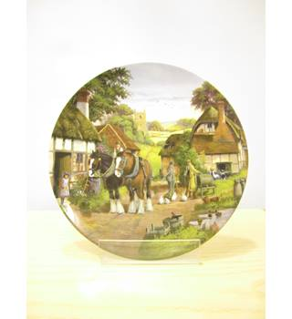 "Royal Doulton plate - ""Off to the Fields"""