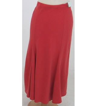 NWOT M&S - size: 10, spice red calf length skirt
