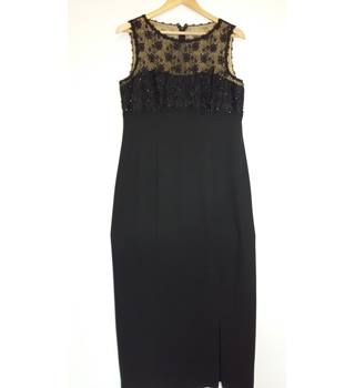Debut beaded black maxi dress 14 Debut - Size: 14 - Black