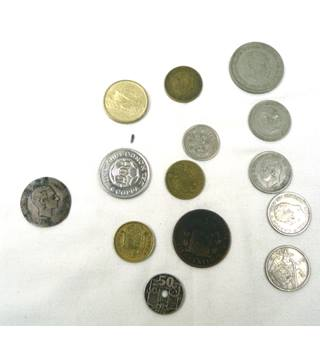 Mixed bag of Spanish Coins