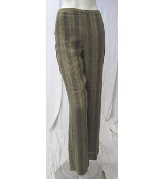Striped Linen Trousers Size S Claudia Strater - Size: S - Brown