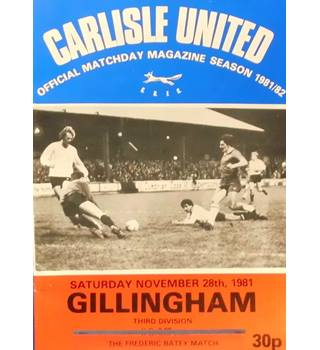 Carlisle United v Gillingham - Division 3 - 28th November 1981