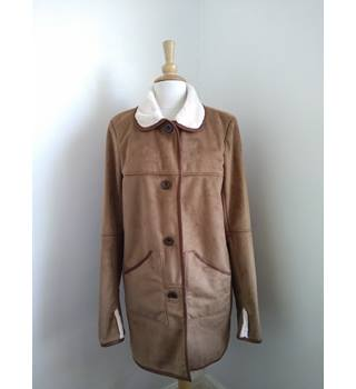 ORVIS Faux Fur coat ORVIS - Size: M - Beige - Casual jacket / coat
