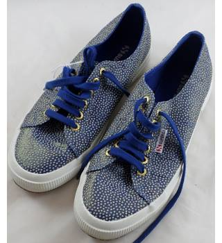 Superga - Size: 7.5 - Blue glitter - Low top shoes