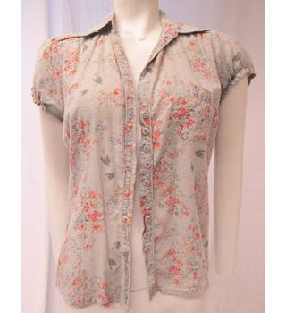 Cute Sleeveless Blouse Size 12 Denim Co - Size: 12 - Multi-coloured