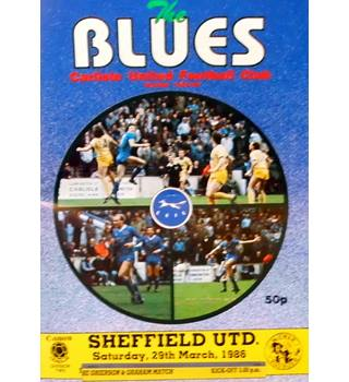Carlisle United v Sheffield United - Division 2 - 29th March 1986