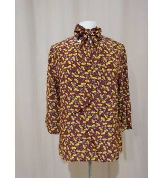 Ted Baker - Russett Flower Ballerina neck tie top - Size 5(Ted Baker)/ 16 UK Ted Baker - Size: 16 - Brown - Blouse