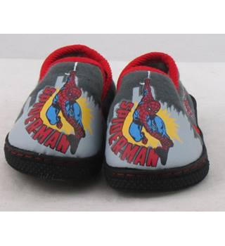 NWOT M&S Kids, size 4/20.5 grey Spider-Man slippers