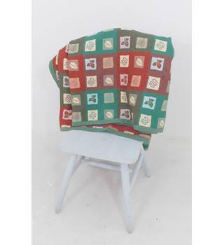 Fantastic Red & Green Patchwork Leaf Woven Quilt
