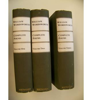 William Wordsworth, Complete Poems : Three Volumes