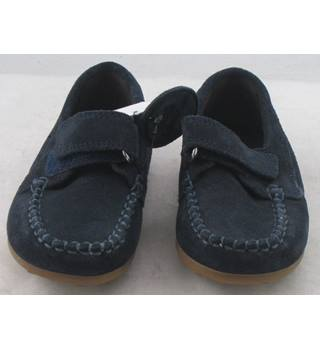 M&S Kids, size 10/28 navy suede shoes