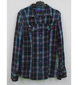 M&S Limited multicoloured check shirt Age 14