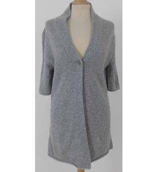 Eileen Fisher Small  Light Grey Long Cashmere Cardigan
