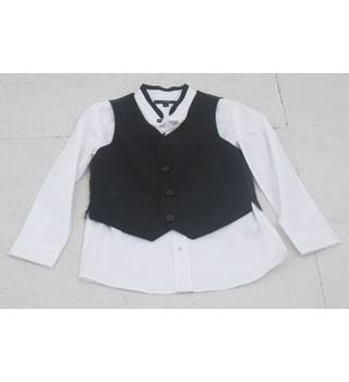 NWOT Autograph, age 7-8 years white shirt and black waistcoat set