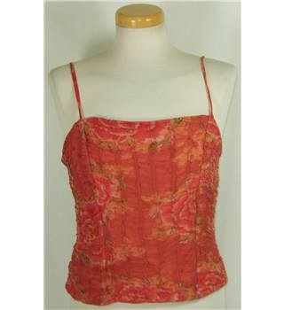 Jigsaw size 14 red ruched with slim straps top