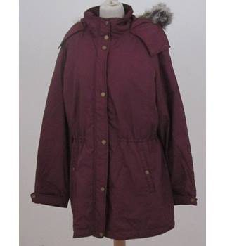 Lands' End size L  purple casual coat