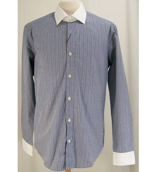 M&S Marks & Spencer - Size: M - Blue - Long sleeved Shirt