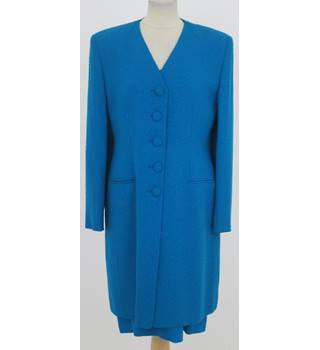 House of Colour - Size: L - Turquoise dress and coat