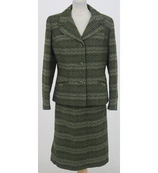 Vintage 60s Rogant Size:M green tweed skirt suit