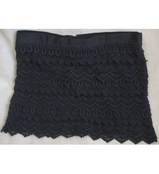 Next - Size: 16 - Navy - Layered-Mini-Cotton Lace Skirt