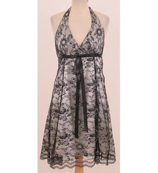 Joe Browns - Size: 10 - Black lace halter-necked dress