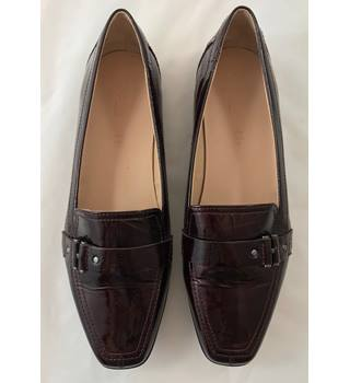 Footglove Ladies Flat Shoes Burgundy Size 7.5 M&S Marks & Spencer - Size: 7.5 - Red - Flat shoes