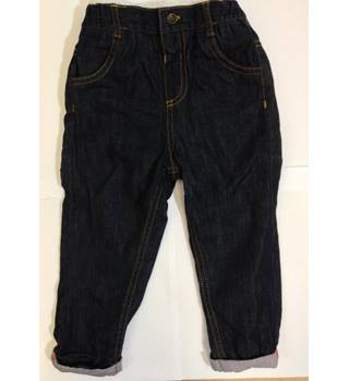 Next - Blue Trousers & Unbranded Blue Denim Look Trousers - size 1.5 - 2 yrs