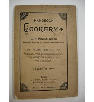 Handbook of Cookery. Fourth Edition.