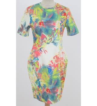 BNWT Missguided - Size: 12 - Green tropical print dress