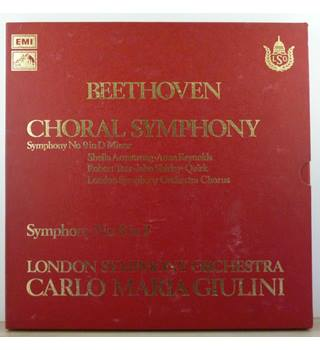 Beethoven - Choral Symphony - Symphony No.9 In D Minor - Symphony No.8 In F - London Symphony Orchestra - SLS 841