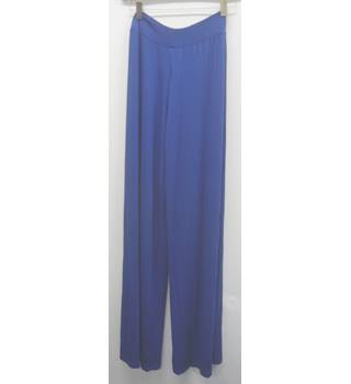wide leg trousers, blue, medium Pourmoi - Size: M - Blue - Harem pants