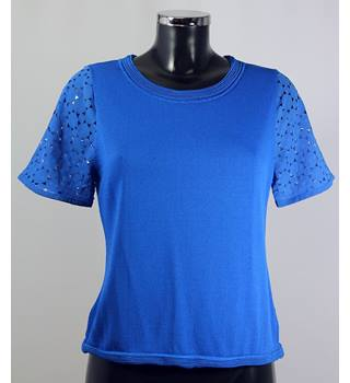 M&S Collection Top - Blue - Size S M&S Marks & Spencer - Size: S - Blue