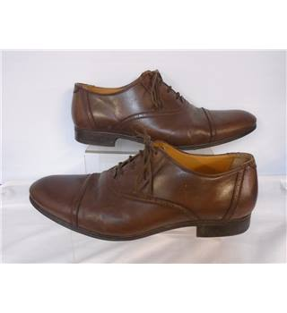 Zara Man - size 11/45 - Brown - Leather Dress Shoes