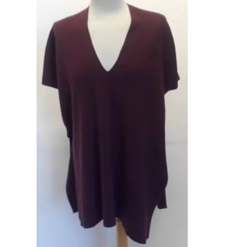 Burgundy Jumper Top 'Pull and Bear' - Size: S