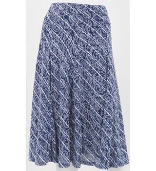 Marks & Spencer CLASSIC Navy Stripe Knee-Length Skirt UK Size 12 / Euro Size 40