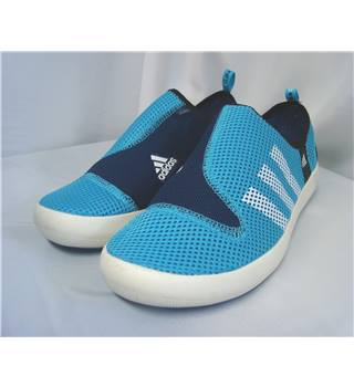 Adidas  size 8  Blue and White  Clima Cool SL Ultra Lite Slip-Ons