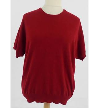 The Cashmere Centre Size XL Red Speckled Cashmere Jumper