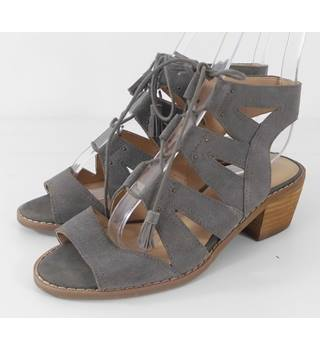 Marks & Spencer Indigo Collection Grey Suede Strappy Sandals Size 3.1/2