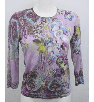 Gerry Weber pink print knit top Size S