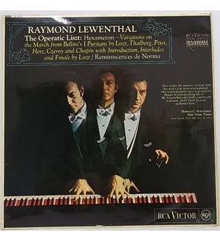 The Operatic Liszt Lewenthal, Raymond - SB 6695