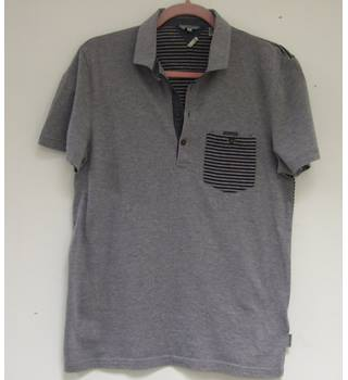 Ted Baker - Size: M - Grey Short sleeved T-shirt