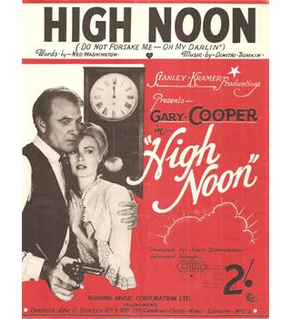 High Noon Gary Cooper sheet music