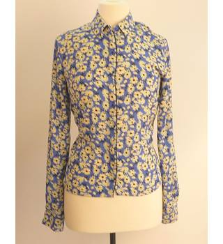 Next Blue/Light yellow Size 10 Next - Size: 10 - Blue - Blouse