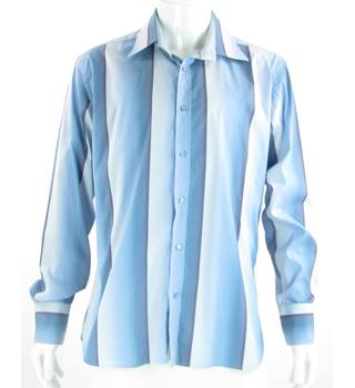 "Ted Baker - Size: 44"" - Blue/Lilac/White - Long Sleeved Shirt"