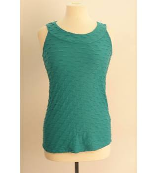BNWT Per Una for M&S BNWT Turquoise Sleveless Top Size 10 Per Una - Size: 10 - Green - T-Shirt