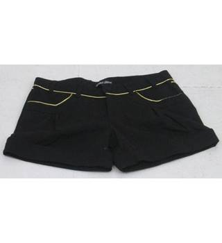 BNWT Label Slave, size 10 black shorts with gold trim
