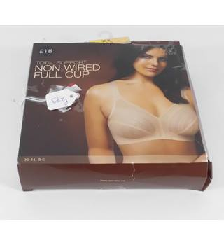 Marks & Spencer Nude Total Support Non Wired Full Cup Bra Size 38E